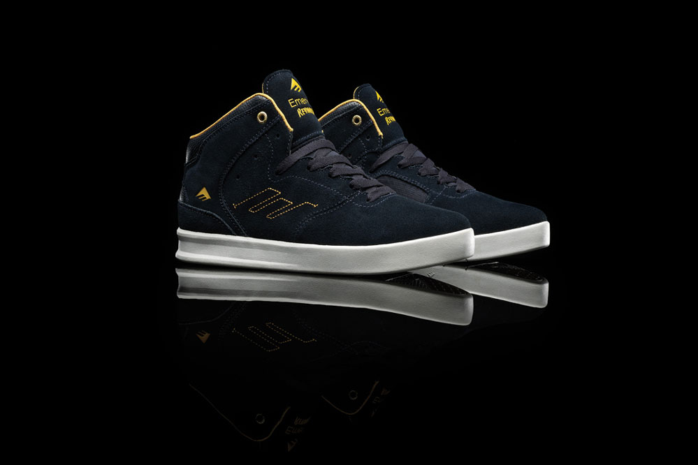 Emerica The Reynolds Schuh in Navy Yellow