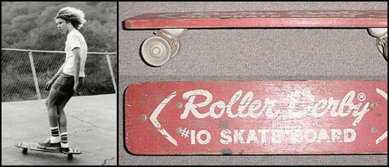 De eerste skateboards
