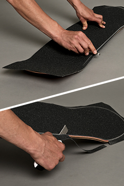 Cut off excess Griptape