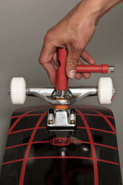 Adjust stiffness of the trucks using the kingpin