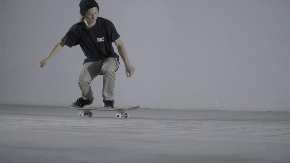 leren skater rok