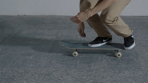 Skateboard Trick 360 Flip Feet Position