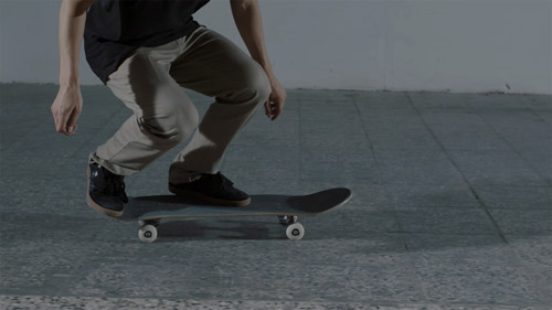 Skateboard Trick 360 Pop Shove-it Feet Position