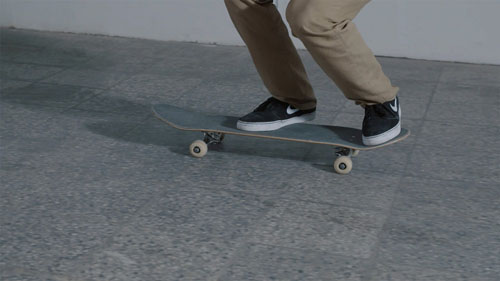 Skateboard Trick BS Bigspin Feet Position