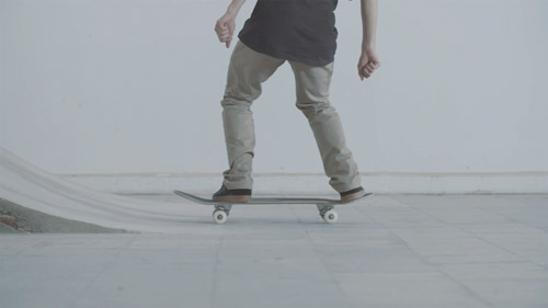 Skateboard Trick BS Disaster Feet Position