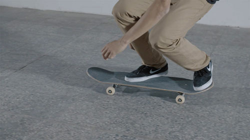 Skateboard Trick BS 180 Kickflip Feet Position