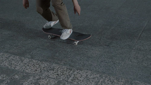 Skateboard Trick BS 180 Heelflip Feet Position