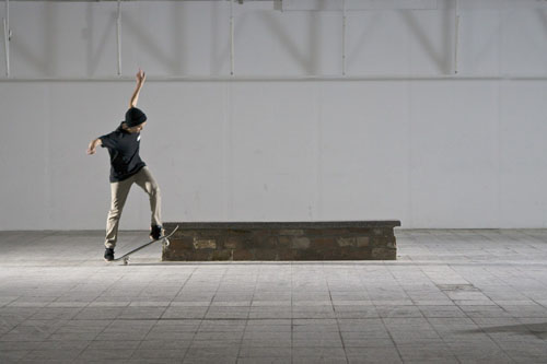 Skateboard Trick BS Smith Grind