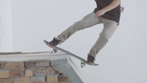 Skateboard Trick FS Disaster