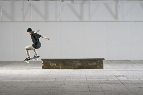 Skateboard Trick FS Smith Grind