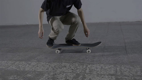 Skateboard Trick Pop Shove-It Feet Position