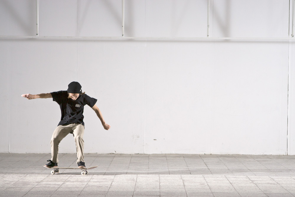 Skateboard Trick Switch Heelflip