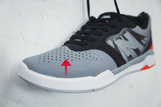 Perforation on skate shoes