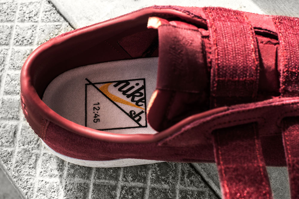Nike SB x Numbers Blazer Low AC Quickstrike Burgundy