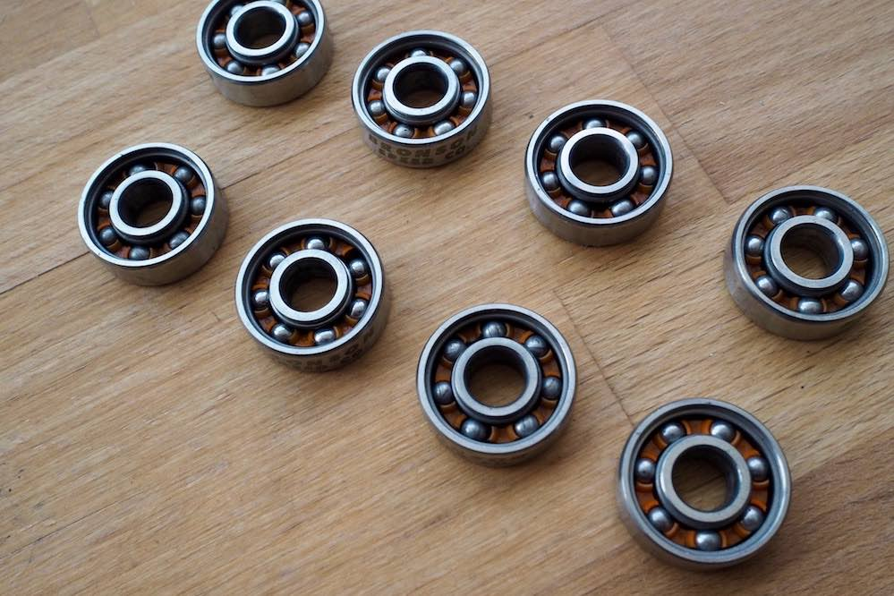 How to clean your bearings - step 4: Let clean bearings dry