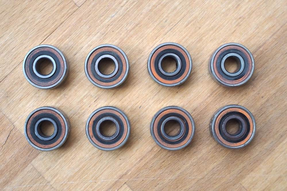Bronson Speed Co. G3 bearings after five months of skateboarding
