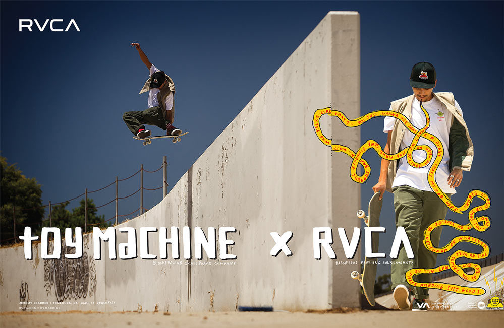 RVCA x Toy Machine collection