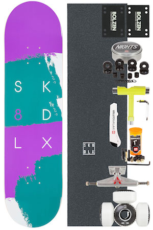 SK8DLX Brush Series Complete Board Kit