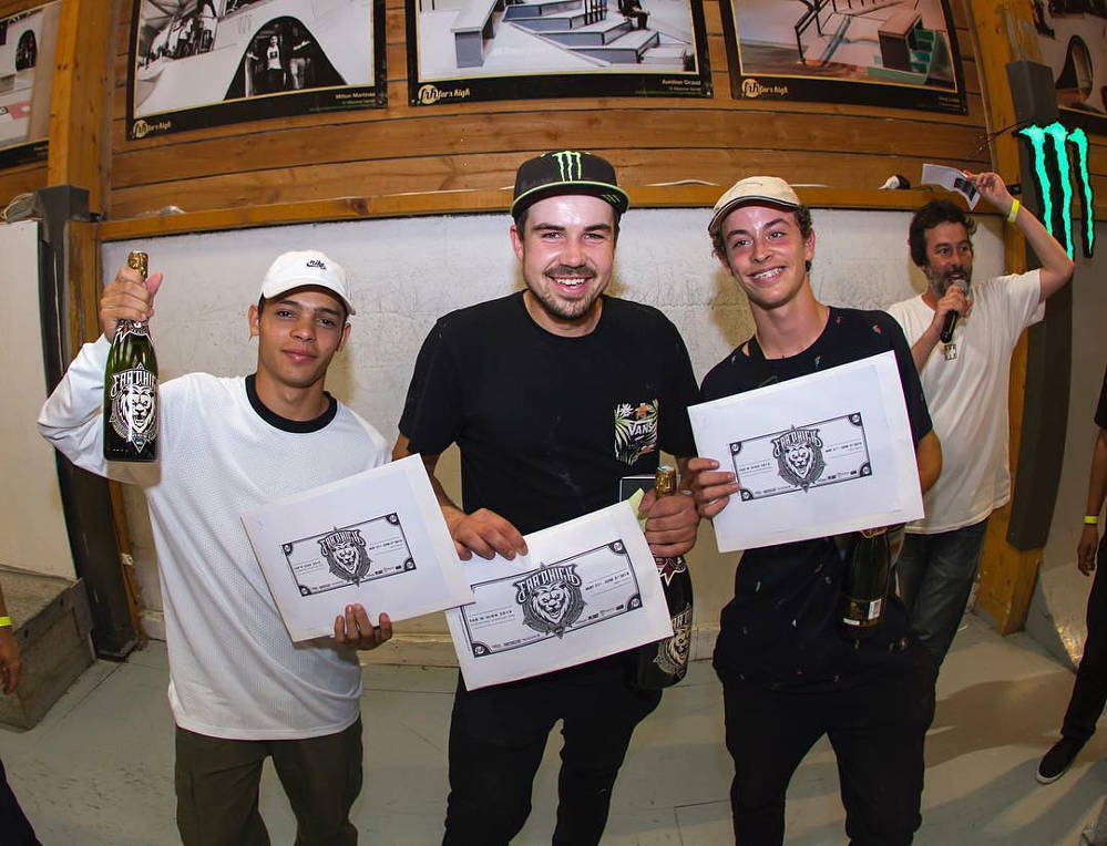 Far 'n' High XI Skate Contest Male Podium 2018