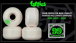 Bones Wheels STF Easy Streets Formula - Fatties Shape