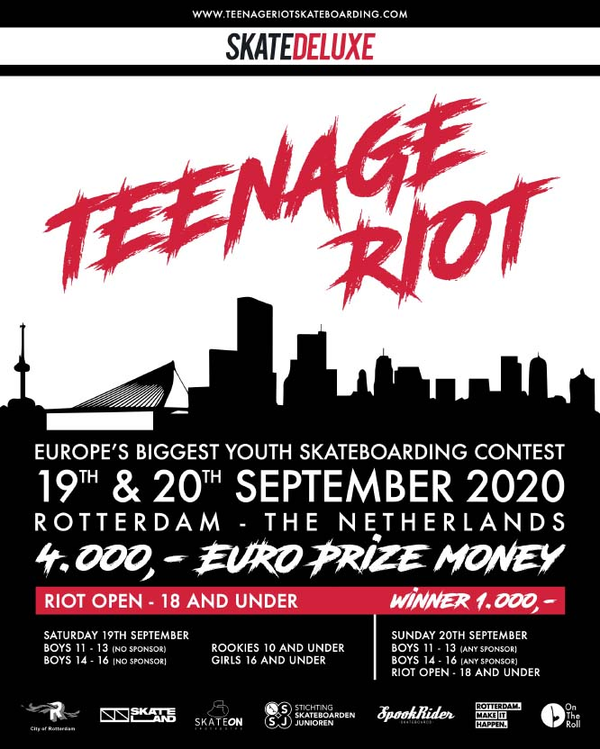 Teenage Riot Youth Skate Contest 2020