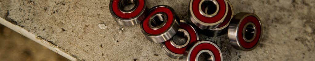 Bearings for skateboards and longboards