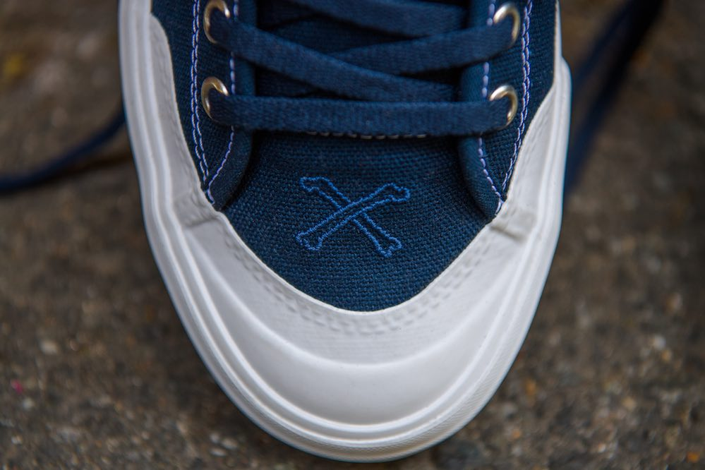 adidas x Bonethrower Matchcourt detail - toe cap