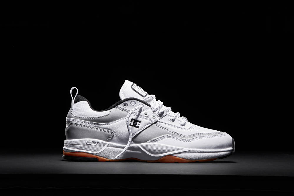 DC Shoes E.Tribeka Skate Shoe White Silver