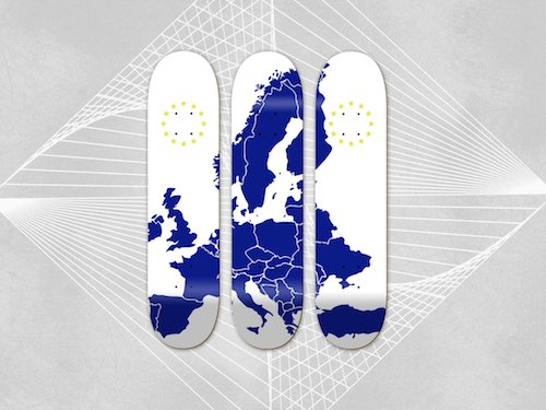 European deck brands at skatedeluxe