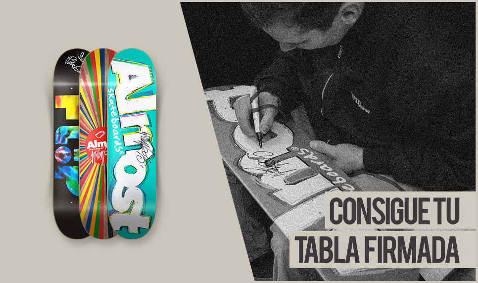 Consigue tu tabla firmada