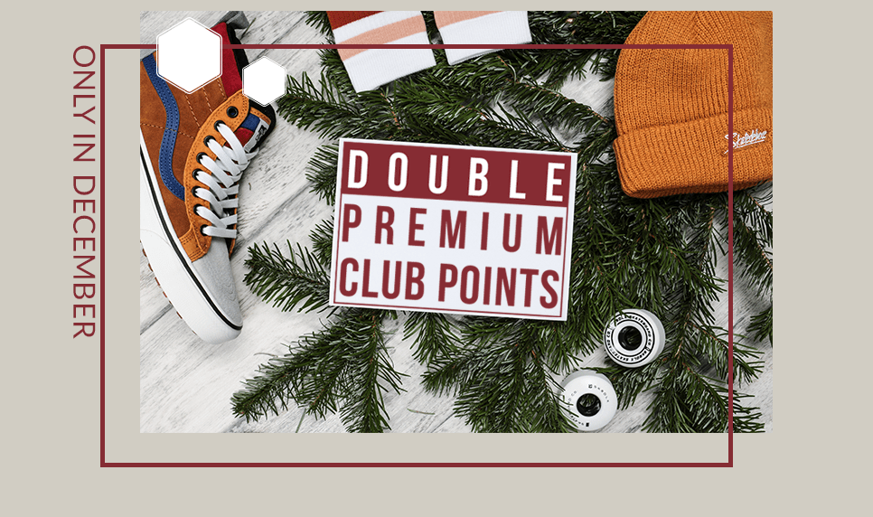 Double Premium Club Points in December