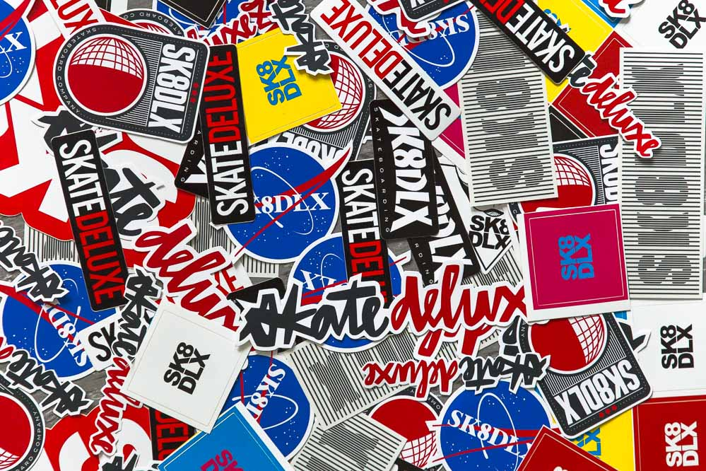 Free stickers choosable with every order exceeding 50GBP