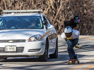 Cadillac Wheels Skate Team Jeremy Florian Downhill