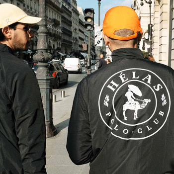 Hélas Jacke mit Polo Club Backprint