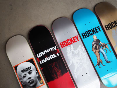 Hockey Skateboard Deck Graphic