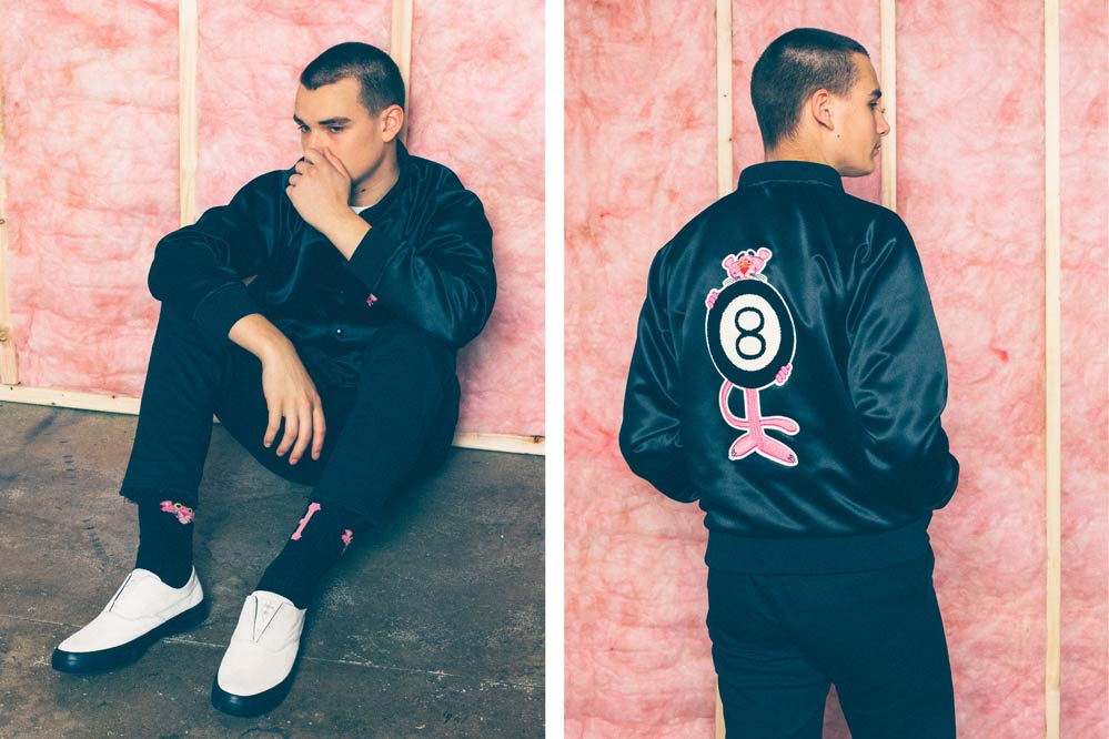 HUF x Pink Panther Baseball Jacket