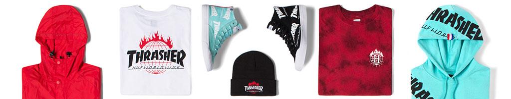 HUF x Thrasher - Le tricolore du skateboard