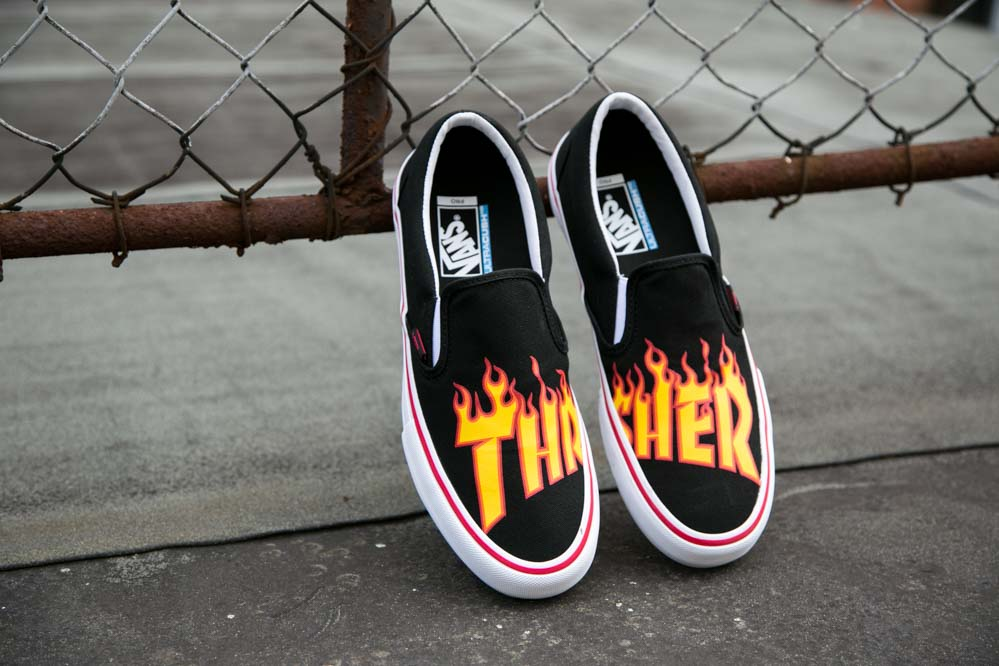 Vans x Thrasher Slip-On Flame Logo Shoe