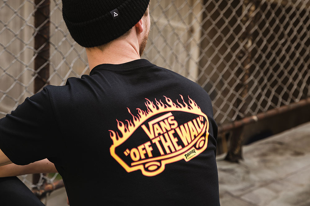 Vans x Thrasher Flame Logo T-Shirt Back