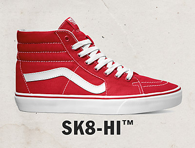 vans old skool sk8 hi red